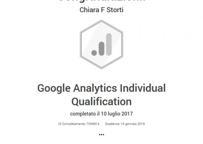 Google Partner certificazione analytics individual