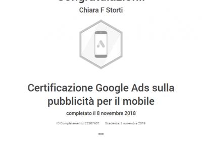 Google Partner certificazione pubblicità per il mobile
