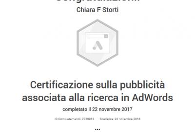 Google Partner certificazione pubblicità rete di ricerca adwords