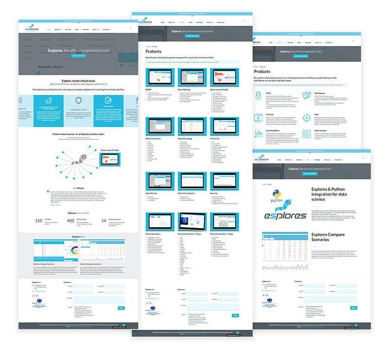 Esplores layout pagine sito